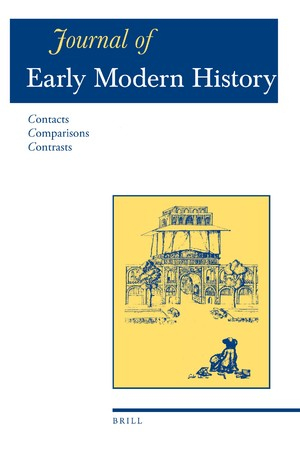 Couverture de « Early Modern Archives, n° 22/5 de la revue Journal of Early Modern History »