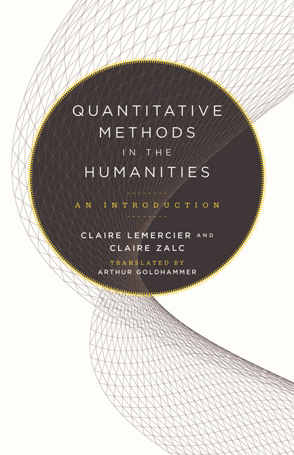 Couverture de « Quantitative Methods in the Humanities »