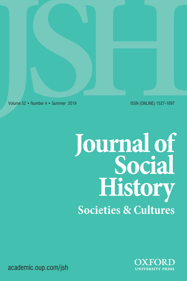 Couverture de « Journal of Social History 52/4 »